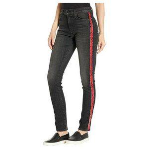 Hudson Barbara Jeans Size 29 Black Denim High Rise